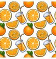seamless pattern backdrop design of oranges and vector image