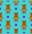 seamless pattern with children s teddy bears vector image