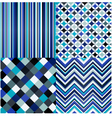 seamless stripes geometric and zigzag pattern vector image vector image