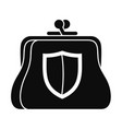 secure purse icon simple style vector image vector image