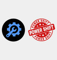 service tools icon and distress power shift vector image vector image