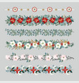 set of christmas borders strings garlands or vector image vector image