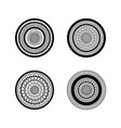 set of four mandalas ethnic deco round mandala vector image vector image