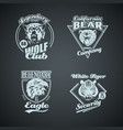 set of vintage wild animal retro logos vector image vector image
