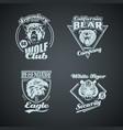set vintage wild animal retro logos vector image vector image