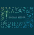 social media concept outline colorful vector image