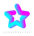 star logotype template colorful gradient vector image