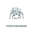 stock exchange line icon linear concept vector image vector image