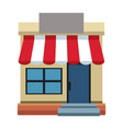 storefront building shop facade front view vector image