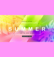 summer sale design with splash background layout vector image