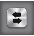 Synchronization icon - metal app button vector image vector image