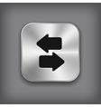 Synchronization icon - metal app button vector image vector image