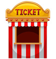 Ticket booth at the carnival vector image