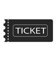 ticket icon on white background ticket sign flat vector image vector image