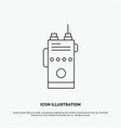 walkie talkie communication radio camping icon vector image