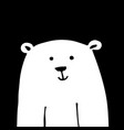 white bear sketch for your design vector image vector image