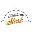 bbq fresh steak image vector image
