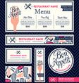 Bon appetit Restaurant Set Menu Design Template vector image