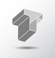 Letter T icon vector image