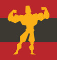 bodybuilder fitness design character human gym vector image