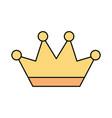 golden crown jewelry luxury fantasy vector image