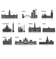 Silhouettes of cities vector image