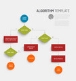 abstract algorithm template vector image vector image