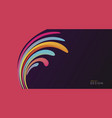 abstract design colorful wave from pink to dark vector image vector image