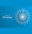 abstract snowflake with copy space vector image vector image