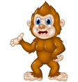 Adorable Sasquatch waving hand isolated vector image vector image