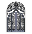 arched vintage gate vector image vector image