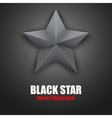 Background of Black five-pointed star vector image