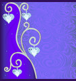 background with ornament with precious stones and vector image