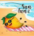 banner design of sun and fun vector image