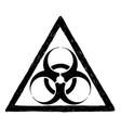 biohazard symbol sign drawing vector image