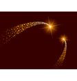 Blazing comets vector image