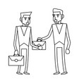 business teamwork executive in black and white vector image vector image