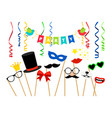 carnaval party accessories vector image vector image
