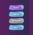 cartoon board for game menu interface vector image
