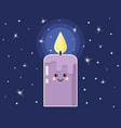 cartoon candle with funny face vector image