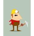 Cartoon miner vector image vector image