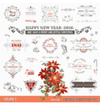 Christmas Calligraphic Design Elements vector image