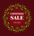 christmas sale poster special offer vector image vector image