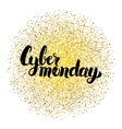 Cyber Monday Lettering over Gold vector image vector image