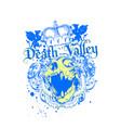 death valley vector image vector image
