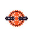 drone store logo design vector image
