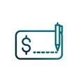 economy business pen writing check transaction vector image