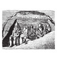 entrance of the great temple at abu simbel double vector image vector image
