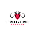 firefly love logo icon vector image