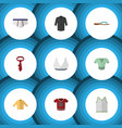 flat icon clothes set of cravat singlet t-shirt vector image vector image